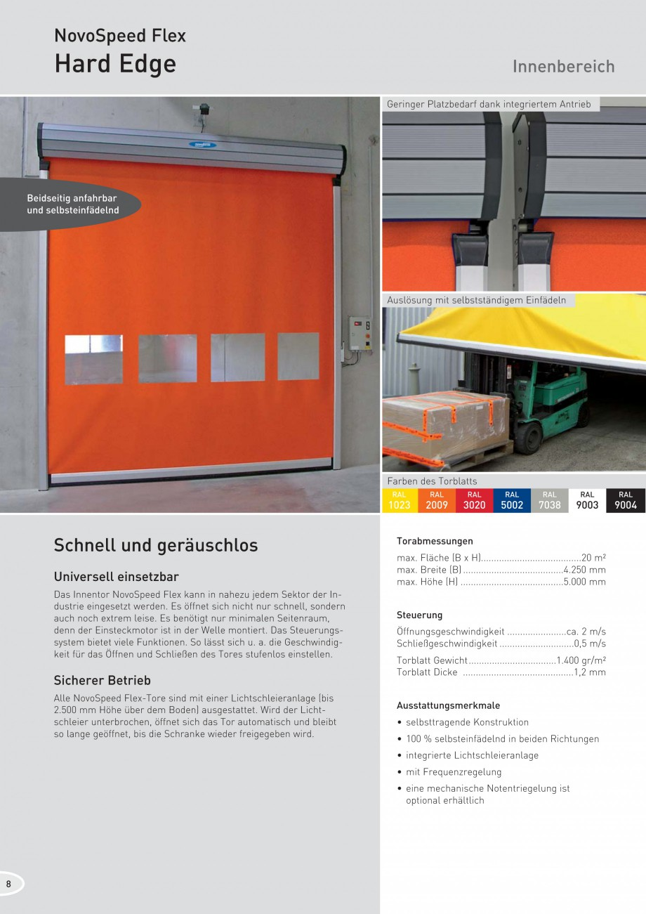 Pagina 8 - Porti industriale rapide NOVOFERM NovoSpeed  Fisa tehnica Germana 1 m/s...
