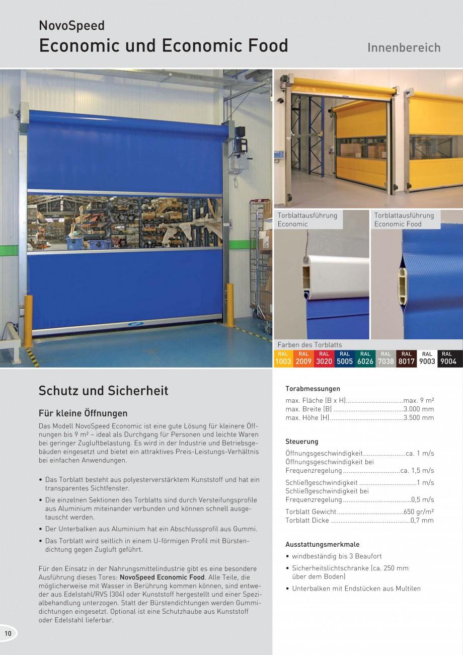 Pagina 10 - Porti industriale rapide NOVOFERM NovoSpeed  Fisa tehnica Germana tig anfahrbar und...