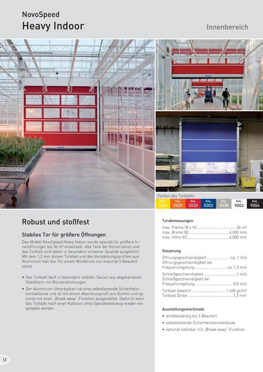 Pagina 12 - Porti industriale rapide NOVOFERM NovoSpeed  Fisa tehnica Germana etriebsgebäuden...