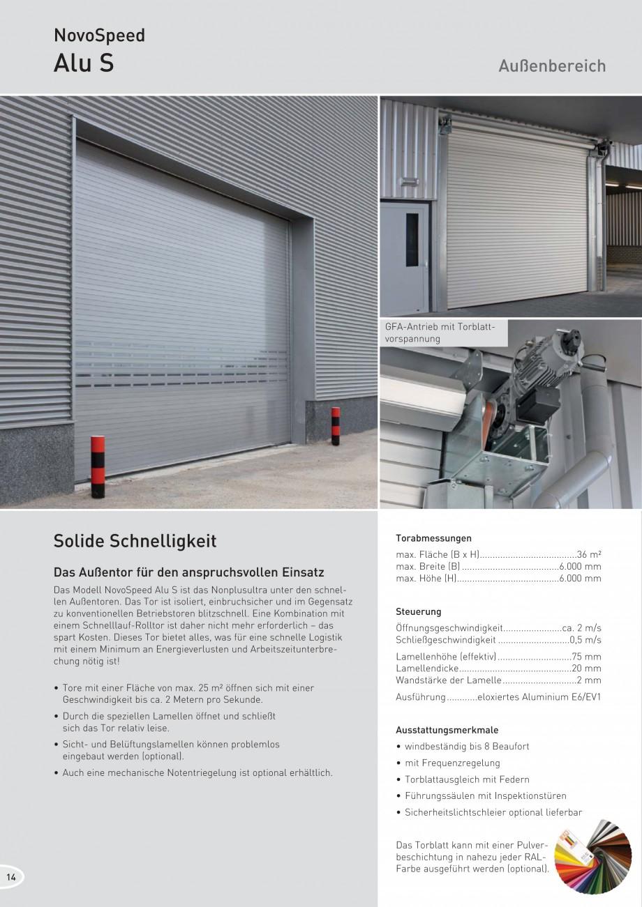 Pagina 14 - Porti industriale rapide NOVOFERM NovoSpeed  Fisa tehnica Germana 9004  Solide und...