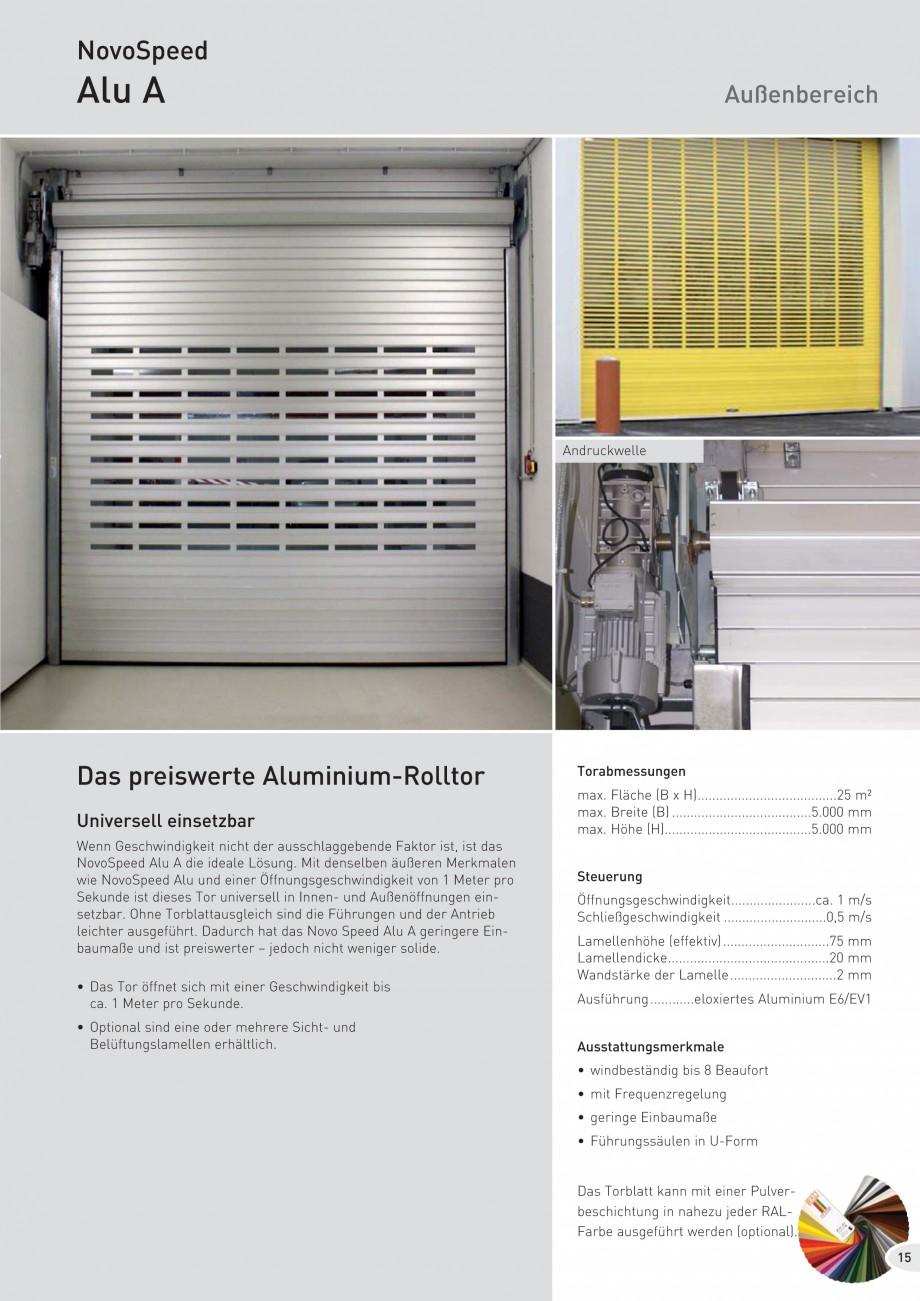 Pagina 15 - Porti industriale rapide NOVOFERM NovoSpeed  Fisa tehnica Germana off hergestellt und...