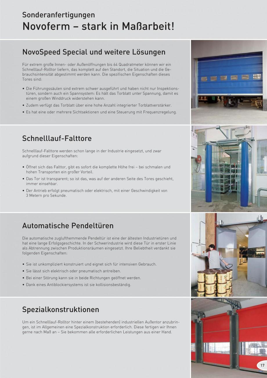 Pagina 17 - Porti industriale rapide NOVOFERM NovoSpeed  Fisa tehnica Germana .........................