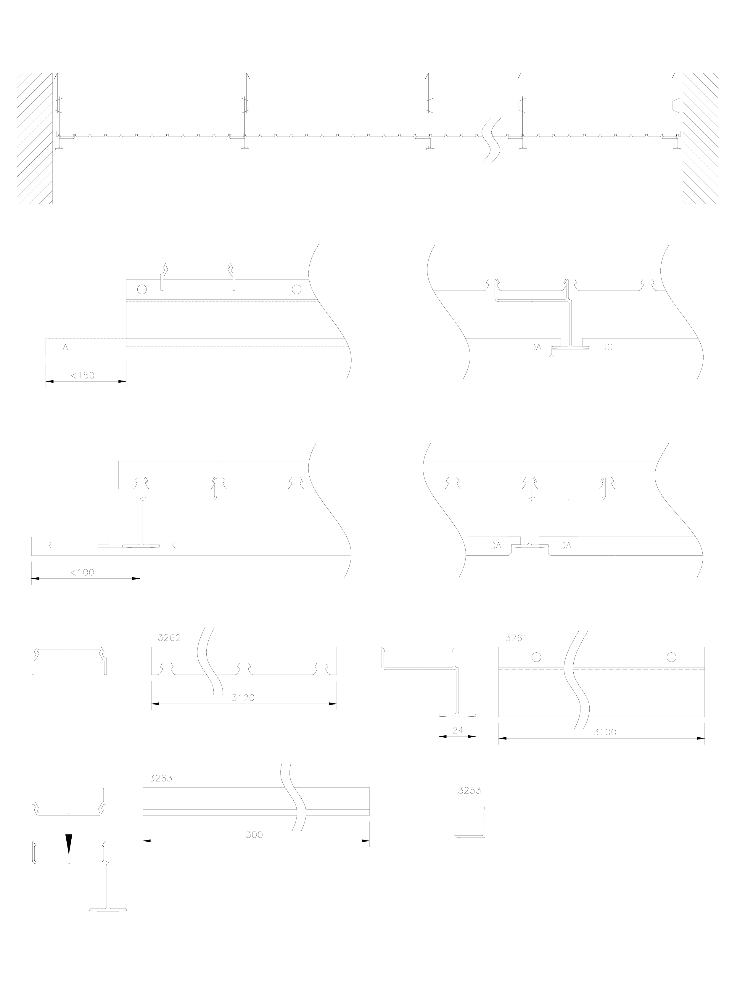 Pagina 1 - CAD-DWG Panouri fonoabsorbante GUSTAFS Detaliu de montaj