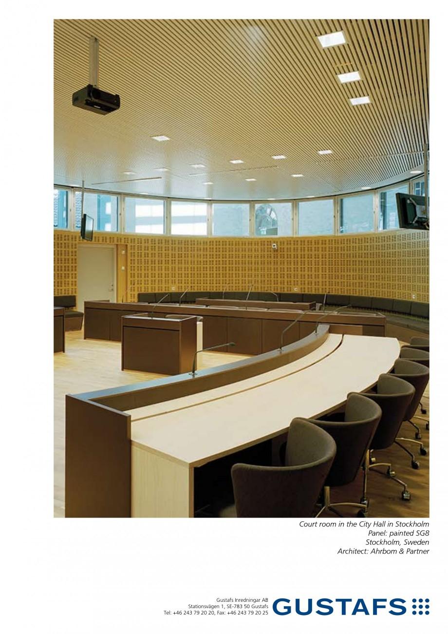 Pagina 1 - Panouri fonoabsorbante - City Hall, Stockholm GUSTAFS Lucrari, proiecte Engleza Court...