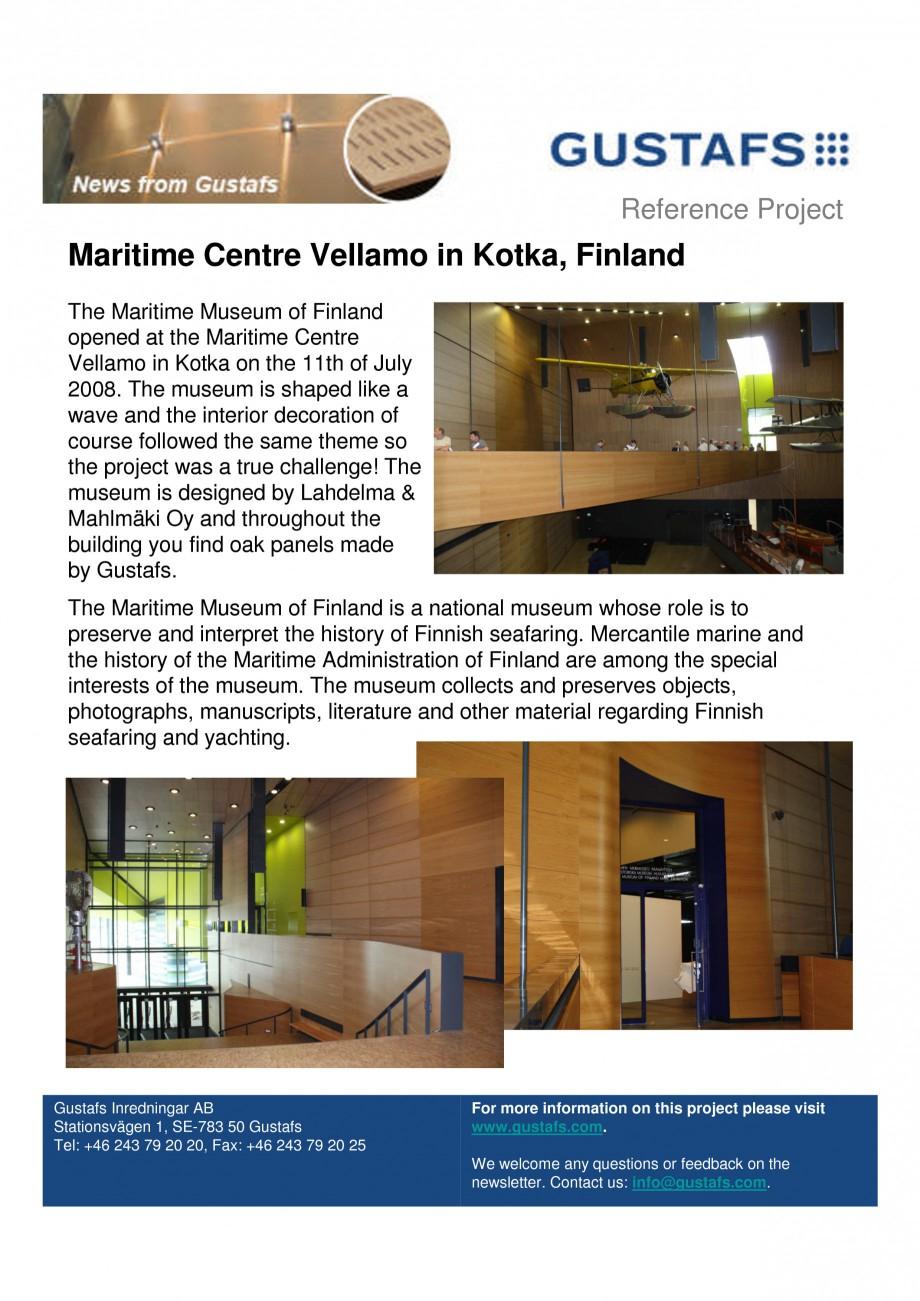Pagina 1 - Panouri fonoabsorbante - Maritime Centre Vellamo in Kotka, Finland GUSTAFS Lucrari,...