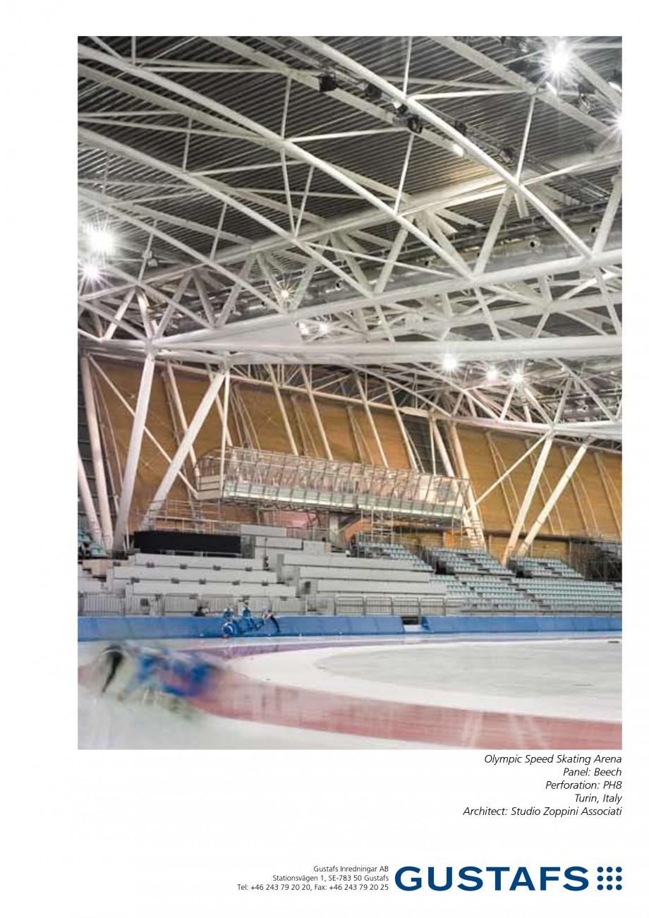 Pagina 1 - Panouri fonoabsorbante - Olympic Speed Skating Arena,Italia GUSTAFS Lucrari, proiecte...