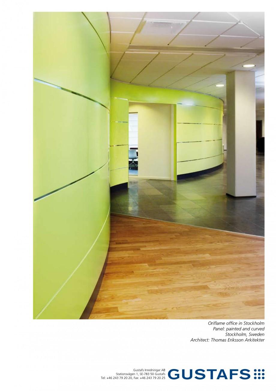Pagina 1 - Panouri fonoabsorbante - Oriflame office in Stockholm GUSTAFS Lucrari, proiecte Engleza...