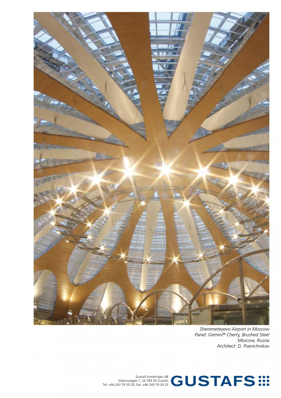 Pagina 1 - Panouri fonoabsorbante - Sheremeteyevo Airport in Moscow GUSTAFS Lucrari, proiecte...