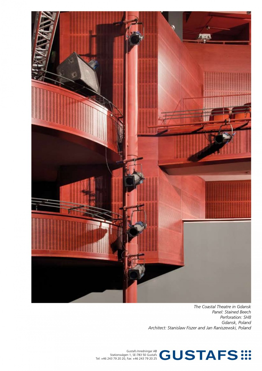 Pagina 1 - Panouri fonoabsorbante - The Coastal Theatre in Gdansk GUSTAFS Lucrari, proiecte Engleza ...