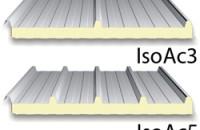 Panouri termoizolante cu 3 sau 5 nervuri pentru acoperisuri ISOAC