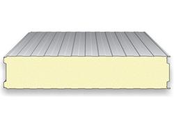 """Panou termoizolant de perete pentru incinte frigorifice Sistemul IsoFrig reprezinta solutia destinata constructiei camerelor / depozitelor frigorifice si spatiilor de procesare, stocare a alimentelor. Imbinarea de tip """"frigo"""" confera un plus de izolare termica."""