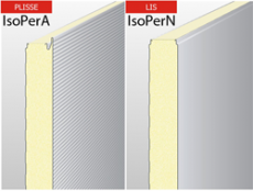 Panouri termoizolante de perete, cu spuma poliuretanica - PUR si spuma poliuretanica ignifugata PIR ISOPER