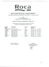 Declaratie de conformitate ROCA