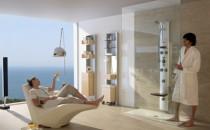 Coloane cu hidromasaj pentru cabine de dus Portofoliul ROCA cuprinde 3 tipuri de coloane cu hidromasaj: Coloana cu hidromasaj NEOS II:  Prin dimensiunile compacte si formele geometrice rectangulare realizate in otel inoxidabil, coloana NEOS II ofera un design rafinat, sofisticat si actual.Coloana cu hidromasaj AQUAKIT NEOBASIC:  A fost proiectata de designerul Marcello Cutino de la BCF Design.Coloana cu hidromasaj AQUAKIT HOTEL'S 1200: Special conceputa pentru spatiile publice.