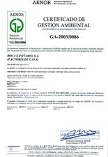 Certificat de management de mediu ROCA