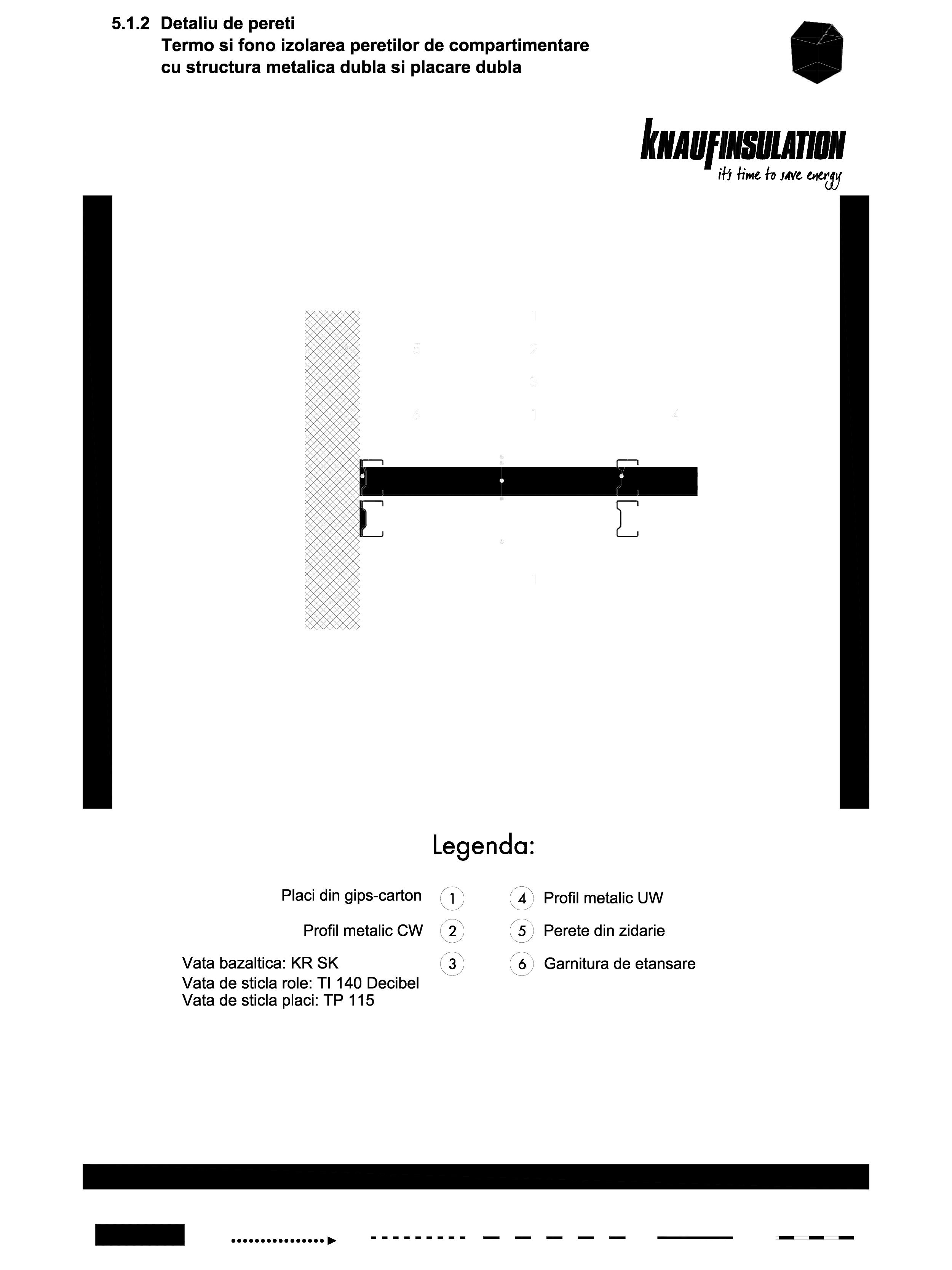 Pagina 1 - CAD-DWG Detaliu de pereti termo si fono izolarea peretilor de compartimentare cu...