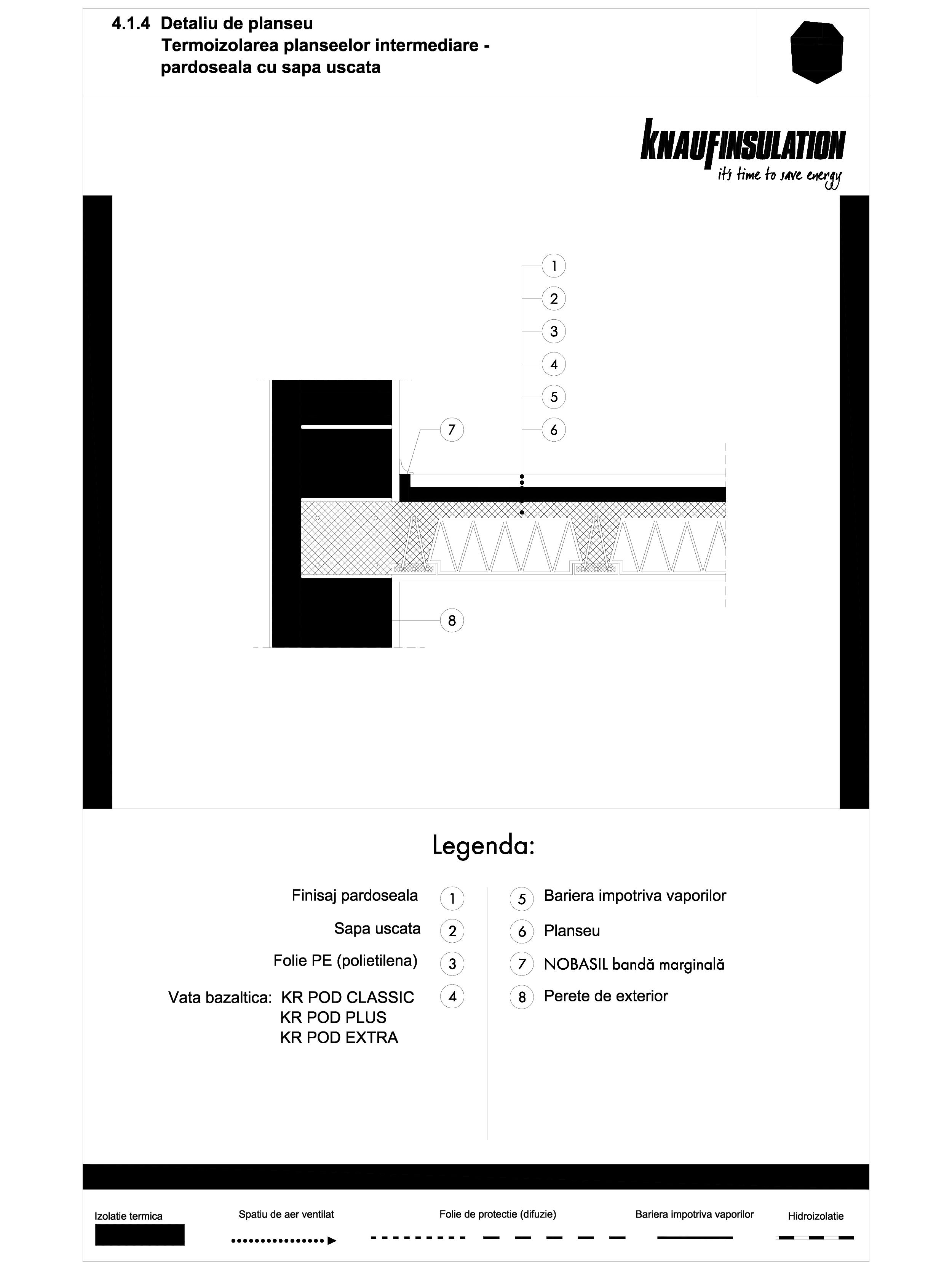 Pagina 1 - CAD-DWG Detaliu de planseu - termoizolarea planseelor intermediare - pardoseala cu sapa...