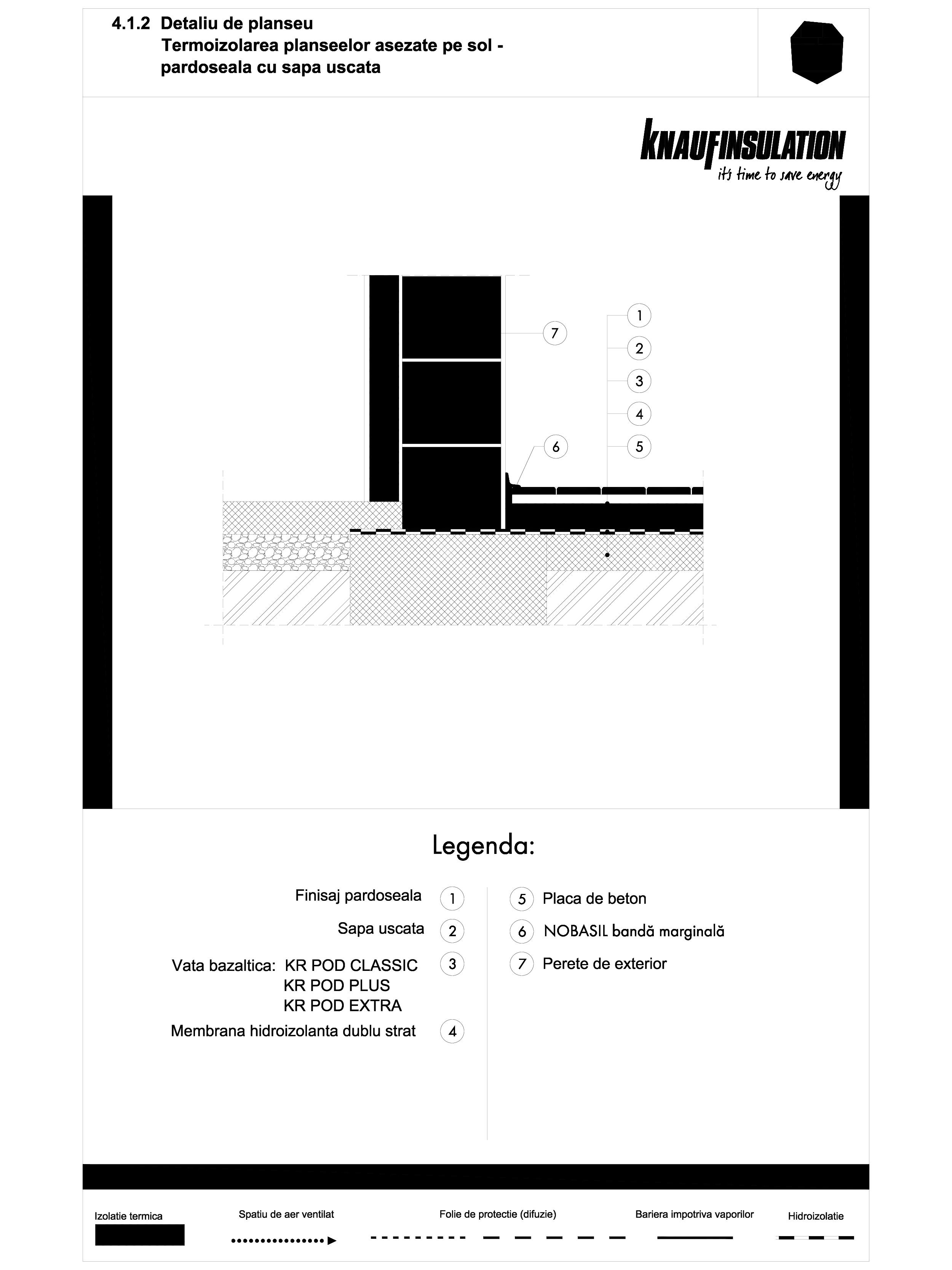 Pagina 1 - CAD-DWG Detaliu de planseu - termoizolarea planseelor asezate pe sol - pardoseala cu sapa...