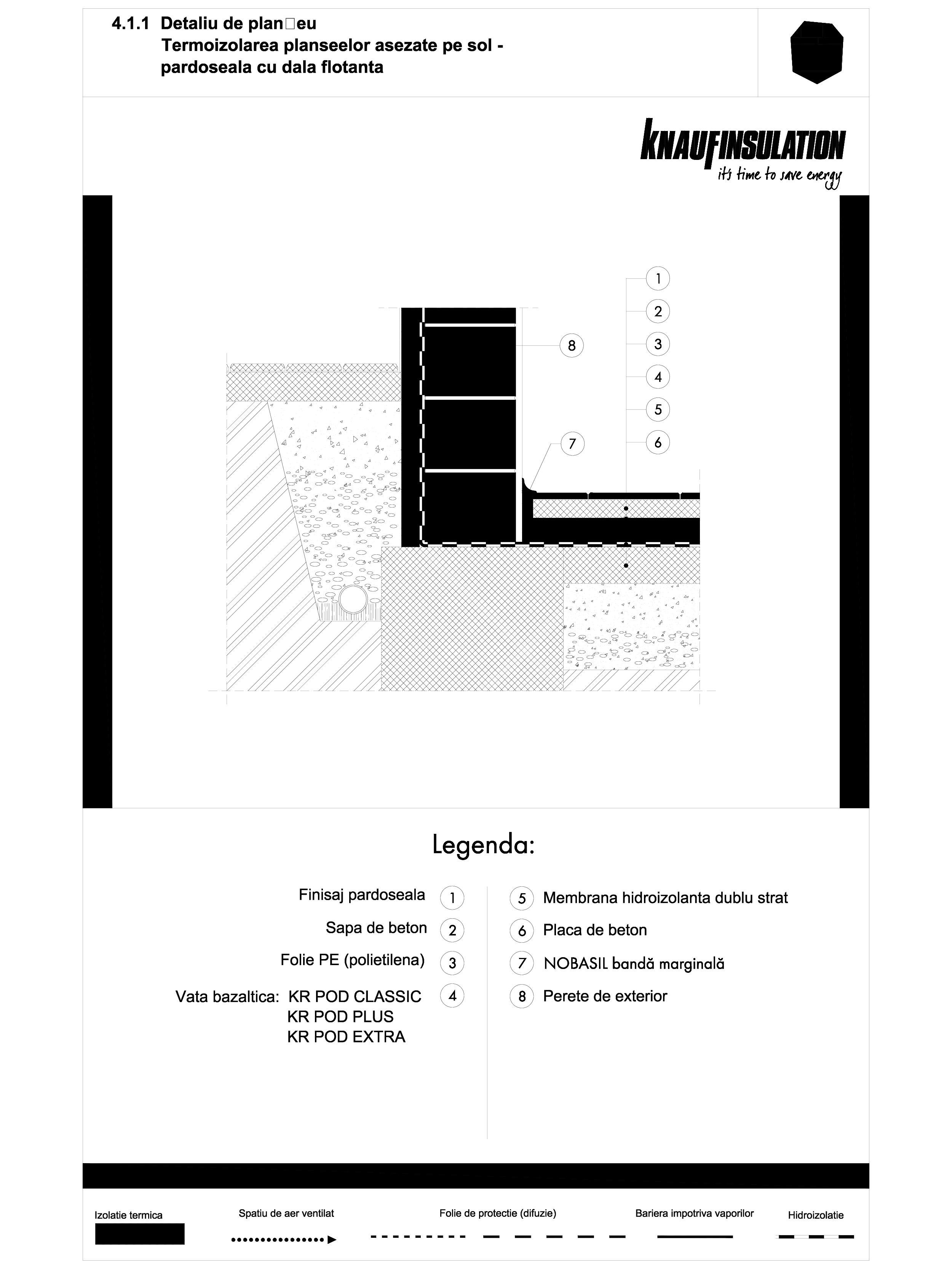 Pagina 1 - CAD-DWG Detaliu de planseu - termoizolarea planseelor asezate pe sol - pardoseala cu dala...