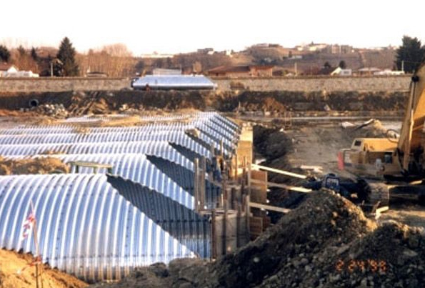 Structuri metalice prefabricate pentru tuneluri, canale,scurgeri colectoare, canale irigare si lucrari de drenaj TUBOSIDER - Poza 3