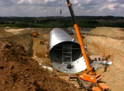Structuri metalice prefabricate pentru tuneluri, canale,scurgeri colectoare, canale irigare si lucrari de drenaj TUBOSIDER - Poza 10
