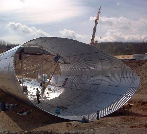 Structuri metalice prefabricate pentru tuneluri, canale,scurgeri colectoare, canale irigare si lucrari de drenaj TUBOSIDER - Poza 13