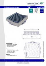 Gratar concav pentru guri de scurgere D400 - 450x450 HYDROTEC