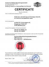 Certificat MPA HYDROTEC