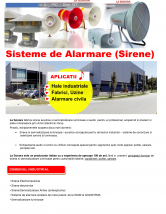Sisteme de alarma (Sirene) - pentru aplicati industriale LA SONORA
