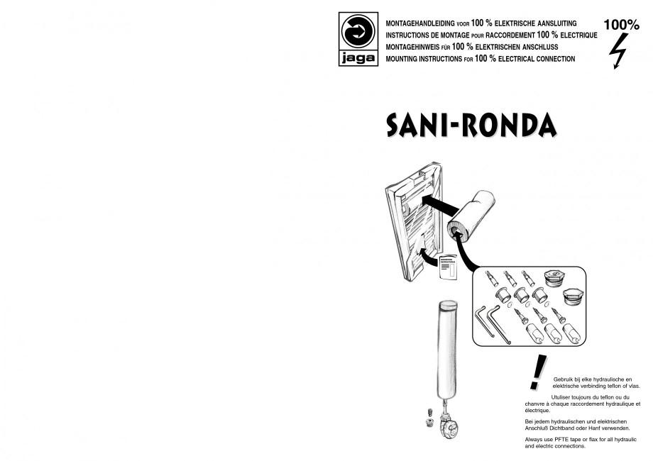 Pagina 1 - Calorifer de baie port prosop vertical - Electric JAGA SANI Ronda Instructiuni montaj,...