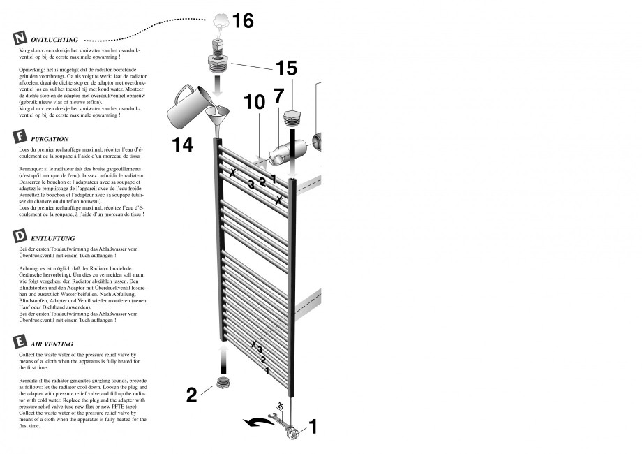 Pagina 2 - Calorifer de baie port prosop vertical - Electric JAGA SANI Ronda Instructiuni montaj,...