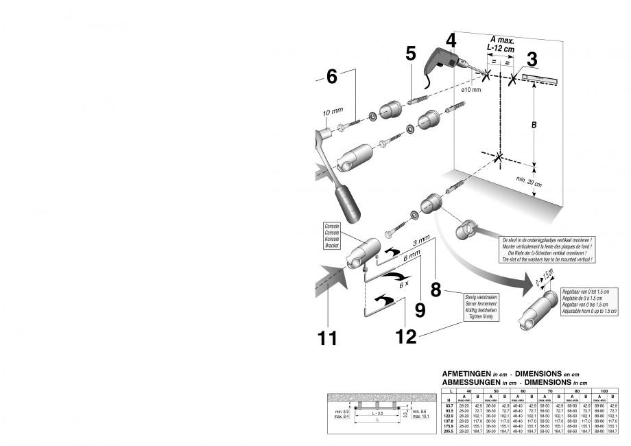 Pagina 3 - Calorifer de baie port prosop vertical - Electric JAGA SANI Ronda Instructiuni montaj,...