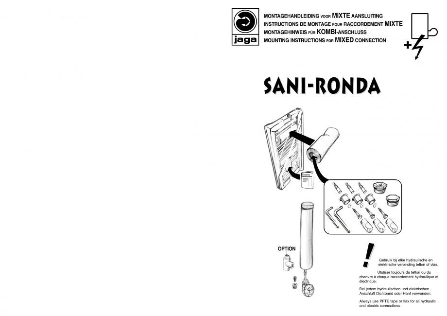 Pagina 1 - Calorifer de baie port prosop vertical - Mixt JAGA SANI Ronda Instructiuni montaj,...
