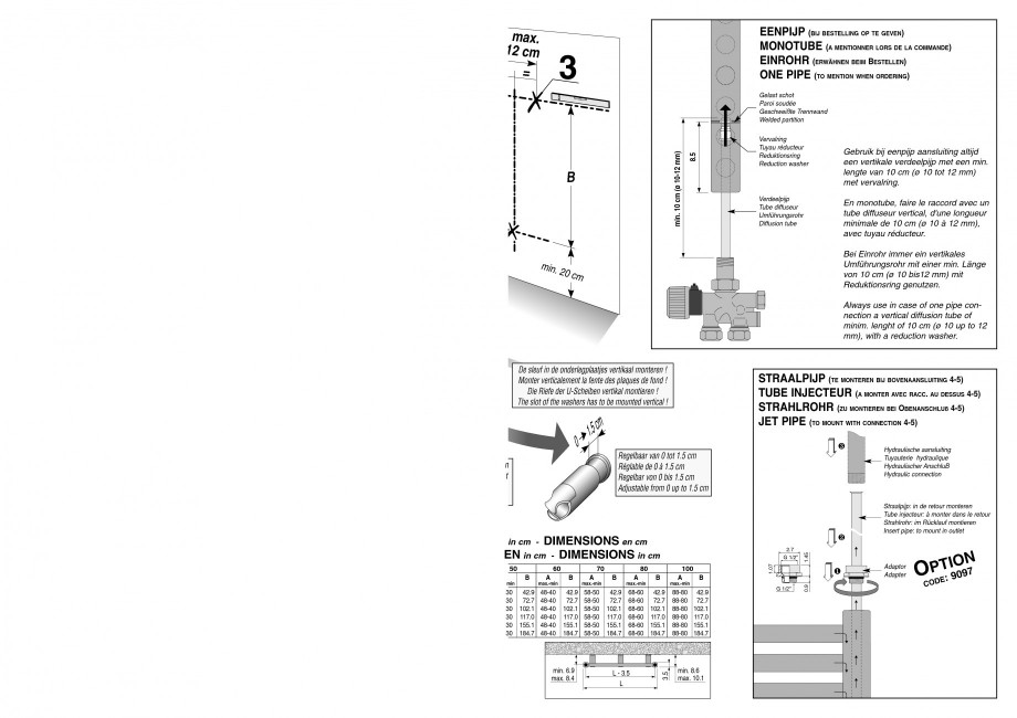 Pagina 3 - Calorifer de baie port prosop vertical - Mixt JAGA SANI Ronda Instructiuni montaj,...