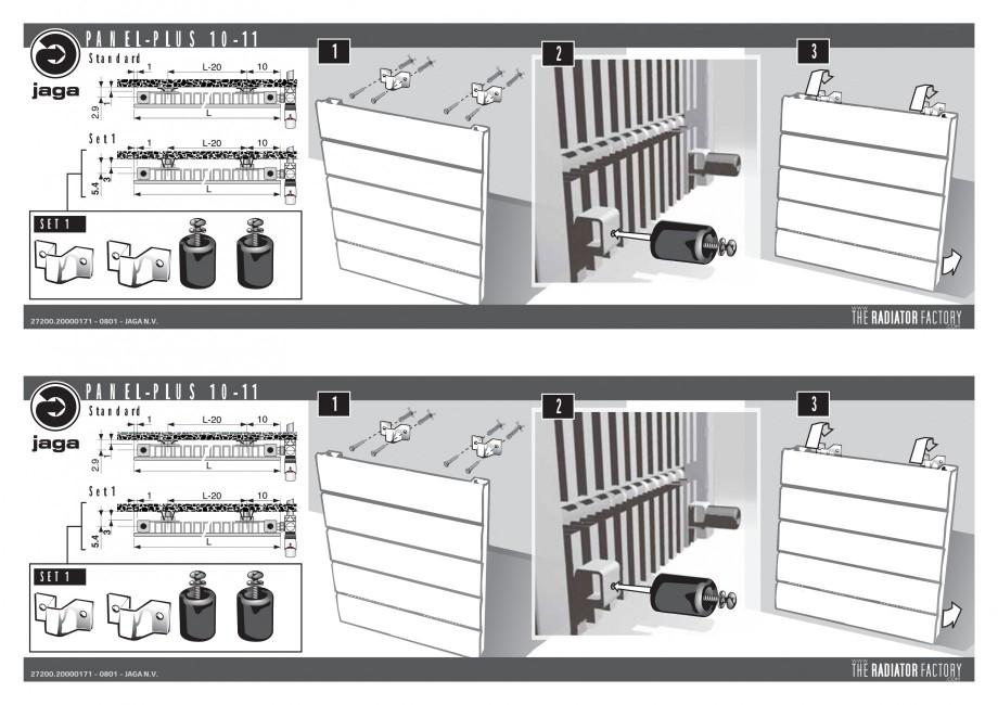 Pagina 1 - Montaj console JAGA PANEL PLUS Vertical Instructiuni montaj, utilizare Engleza, Germana, ...