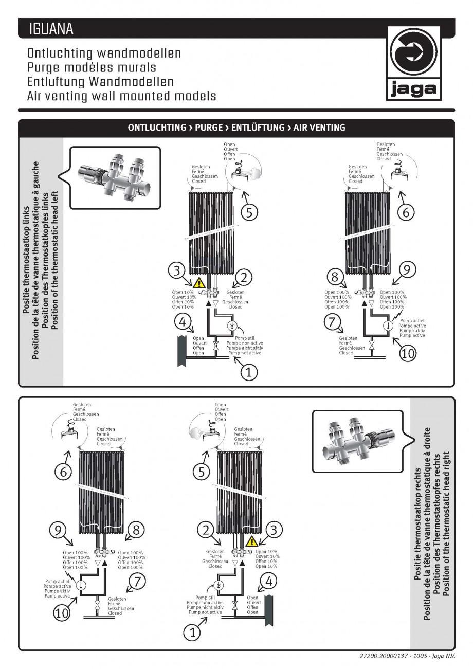 Pagina 1 - Montaj dezaeratoare JAGA IGUANA Angula Plus, IGUANA Aplano /Plus, IGUANA Arco / Plus,...