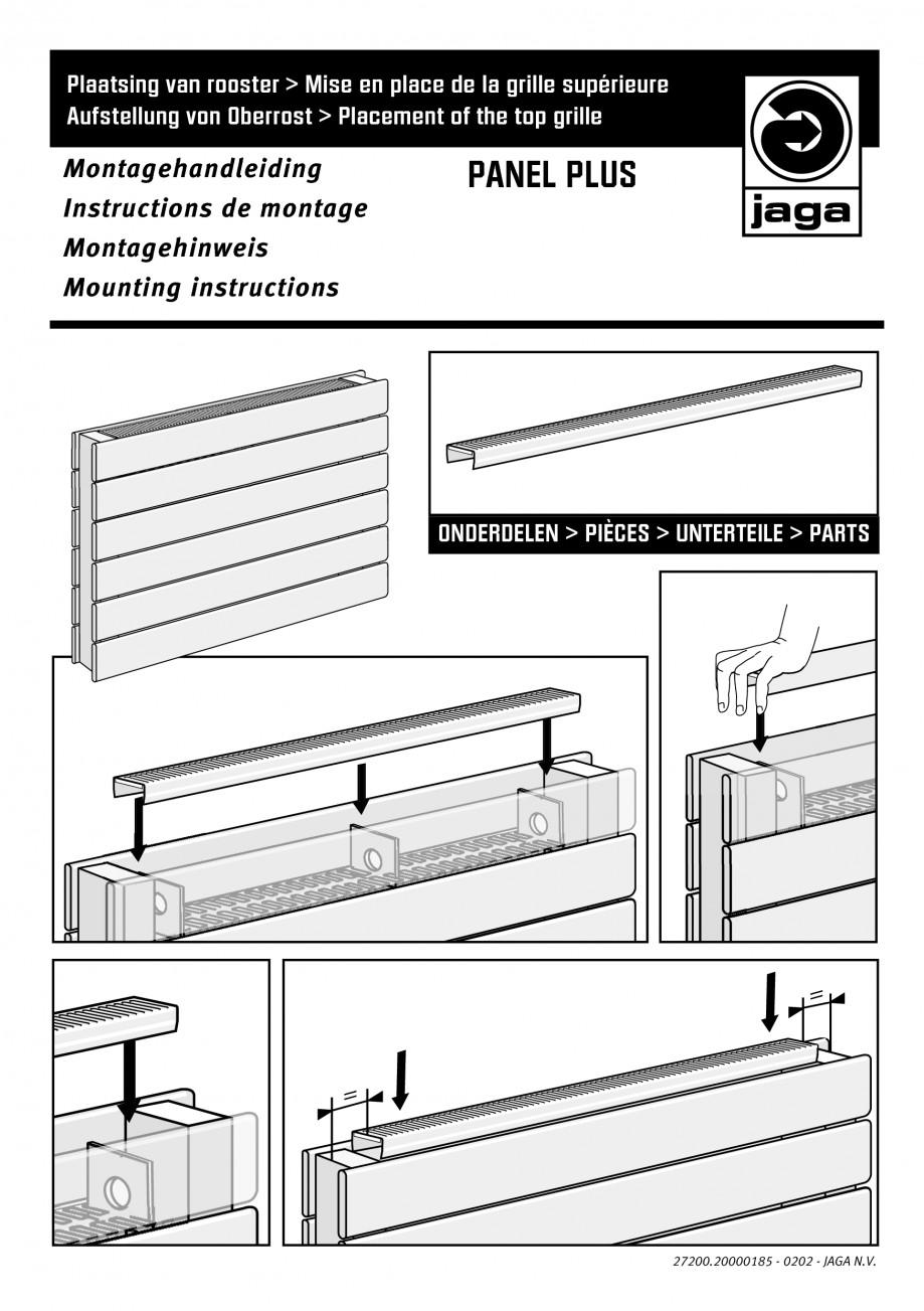 Pagina 1 - Montaj grila JAGA PANEL PLUS Vertical Instructiuni montaj, utilizare Engleza, Germana,...