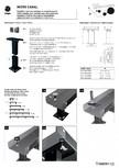 Montaj picioruse pentru ventiloconvector JAGA - MICRO CANAL
