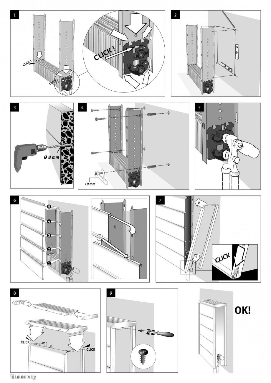 Pagina 2 - Calorifere orizontale cu panou de otel JAGA TEMPO Instructiuni montaj, utilizare Engleza,...