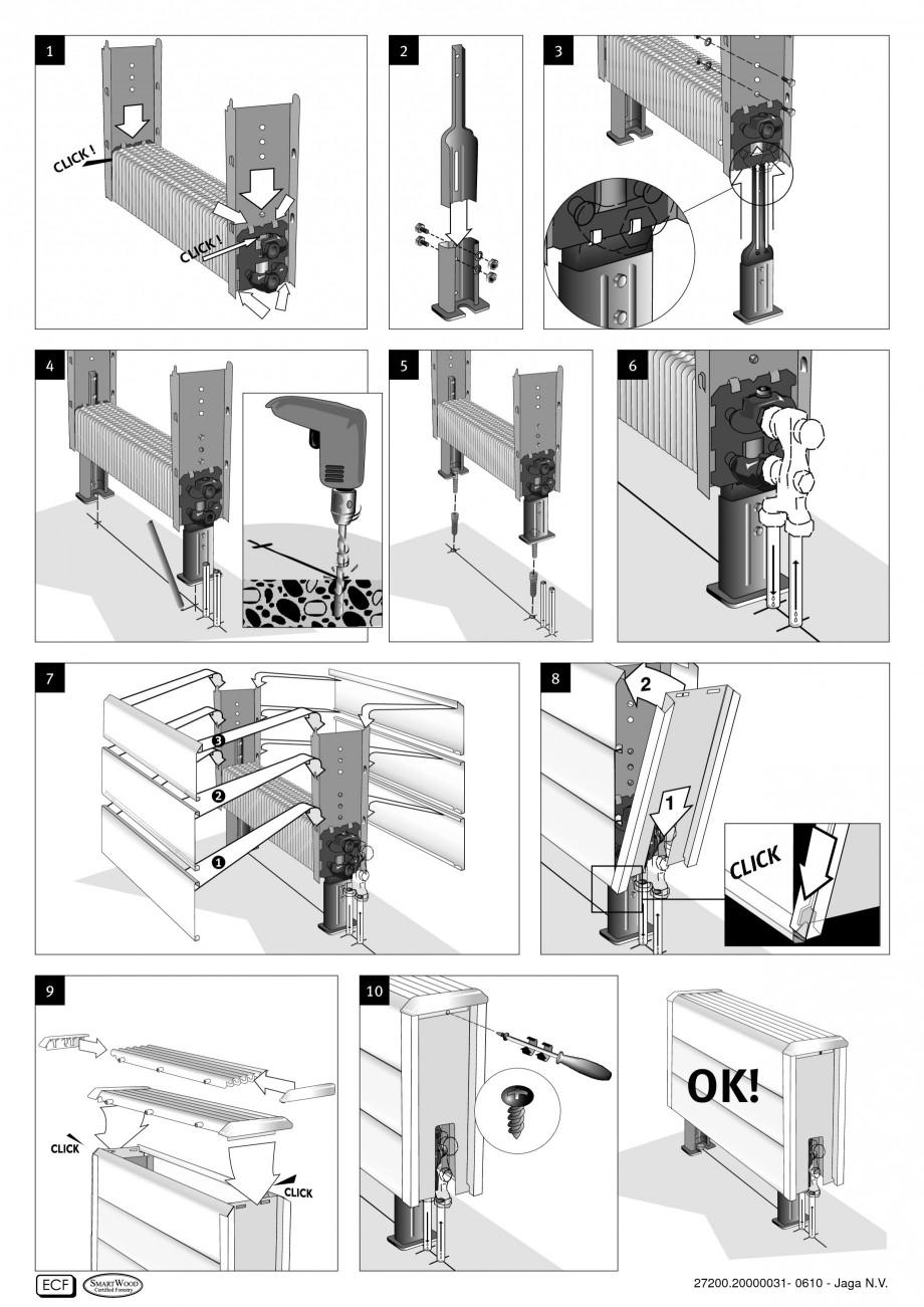 Pagina 4 - Calorifere orizontale cu panou de otel JAGA TEMPO Instructiuni montaj, utilizare Engleza,...