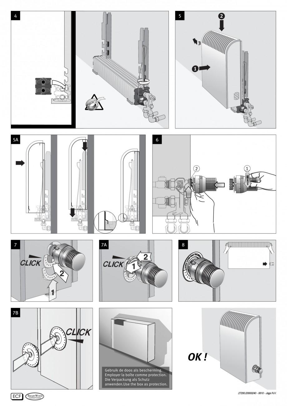 Pagina 2 - Radiatoare cu panou frontal de lemn JAGA KNOCKONWOOD Instructiuni montaj, utilizare...