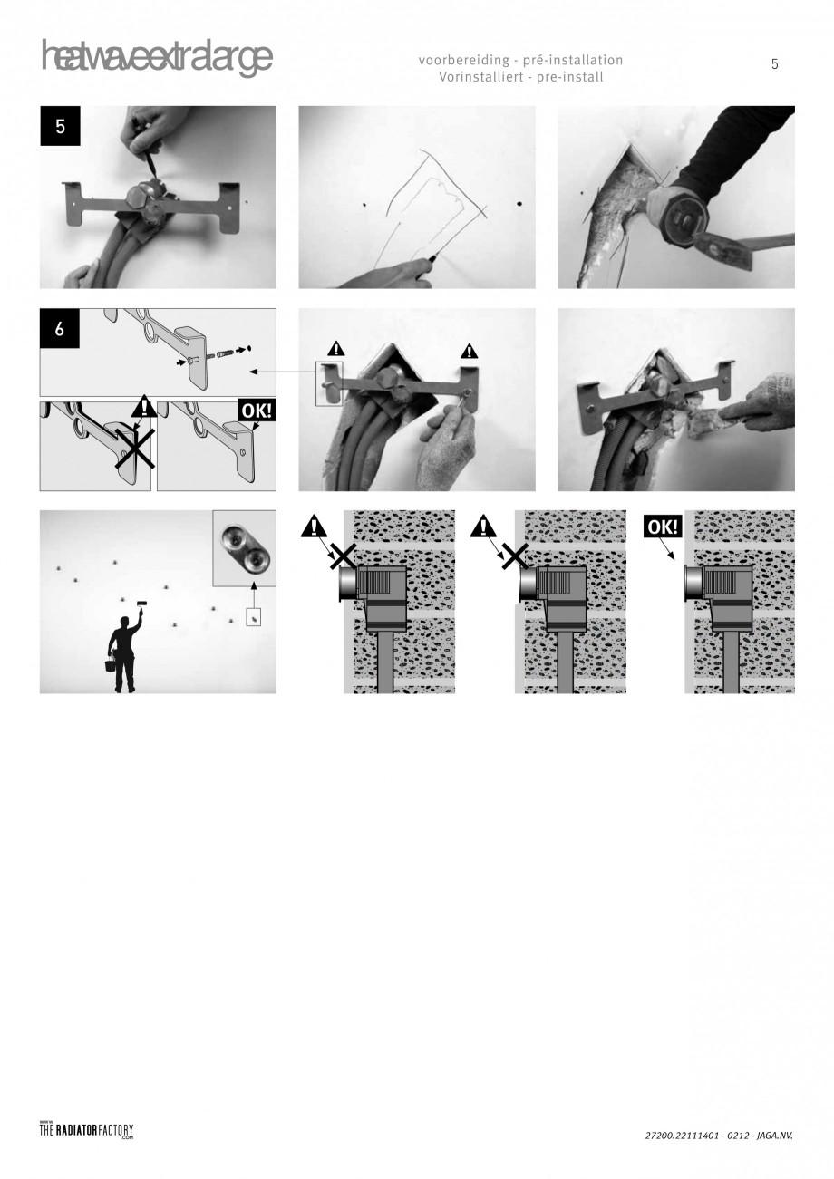 Pagina 5 - Radiatoare modulare - Extralarge JAGA HEATWAVE Instructiuni montaj, utilizare Engleza,...