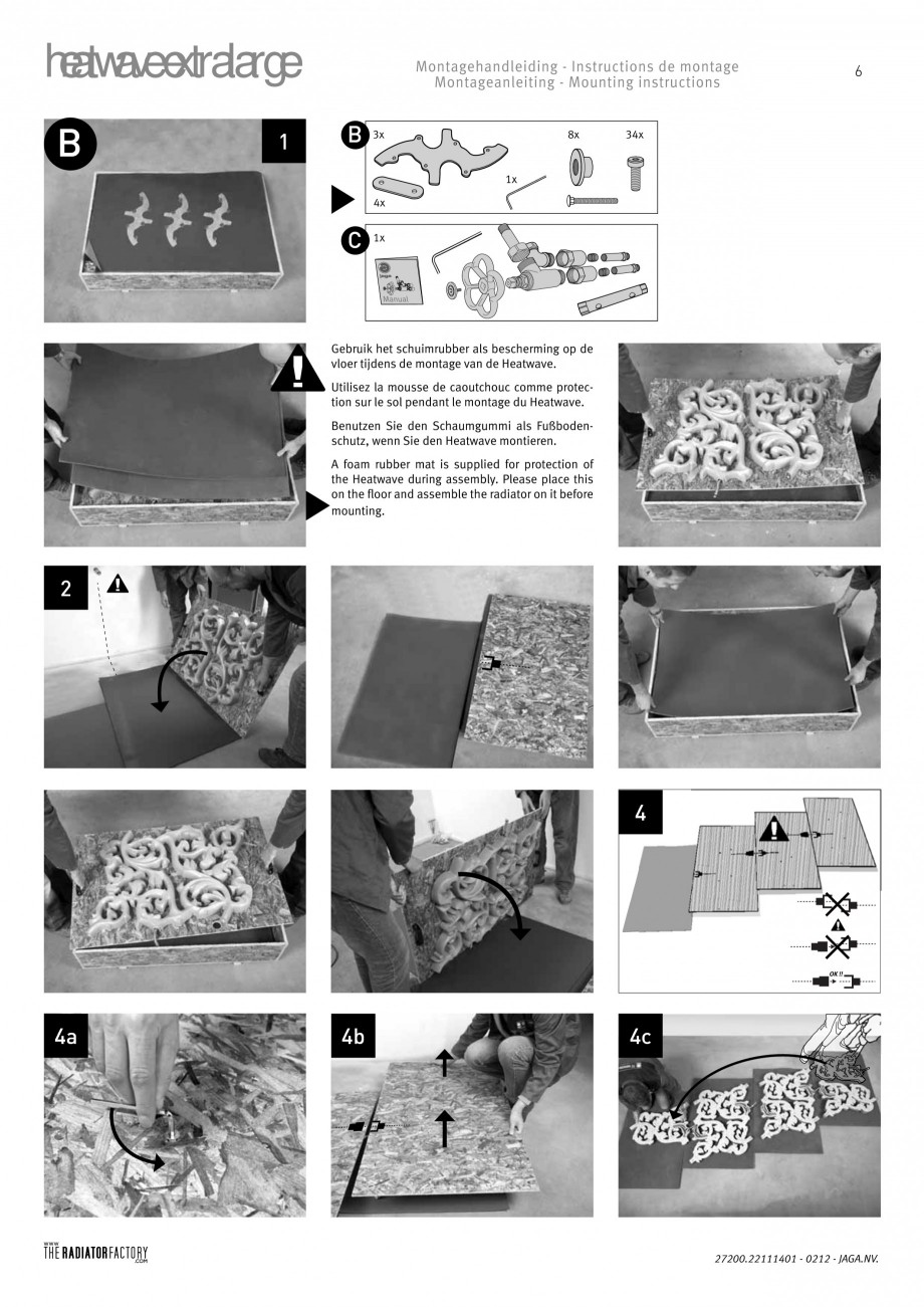 Pagina 6 - Radiatoare modulare - Extralarge JAGA HEATWAVE Instructiuni montaj, utilizare Engleza,...