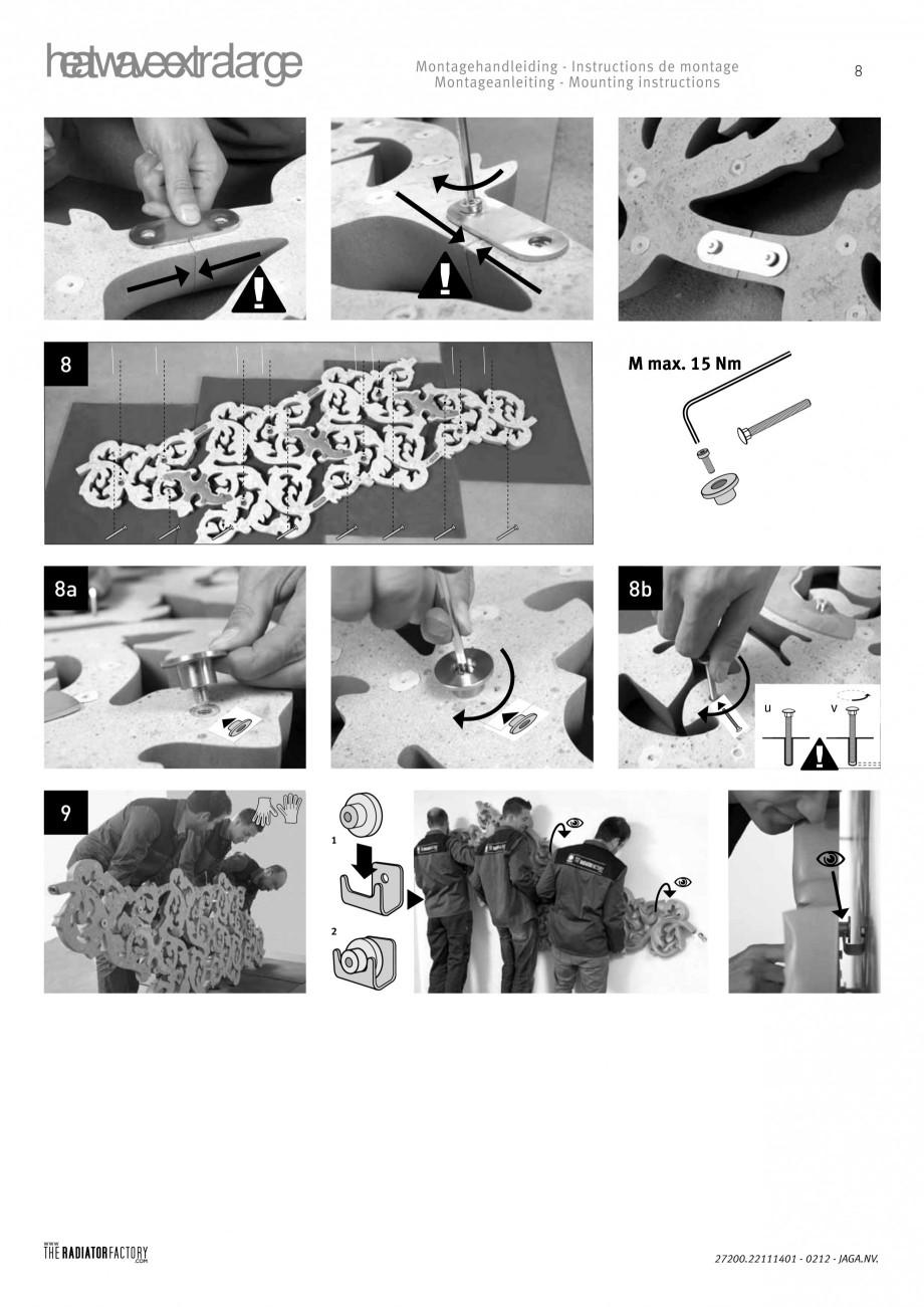 Pagina 8 - Radiatoare modulare - Extralarge JAGA HEATWAVE Instructiuni montaj, utilizare Engleza,...
