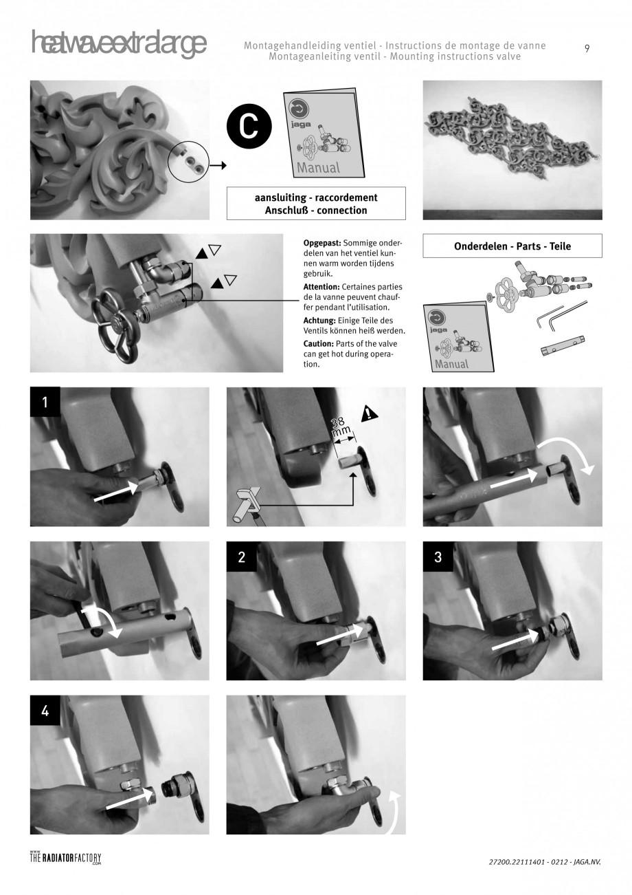 Pagina 9 - Radiatoare modulare - Extralarge JAGA HEATWAVE Instructiuni montaj, utilizare Engleza,...