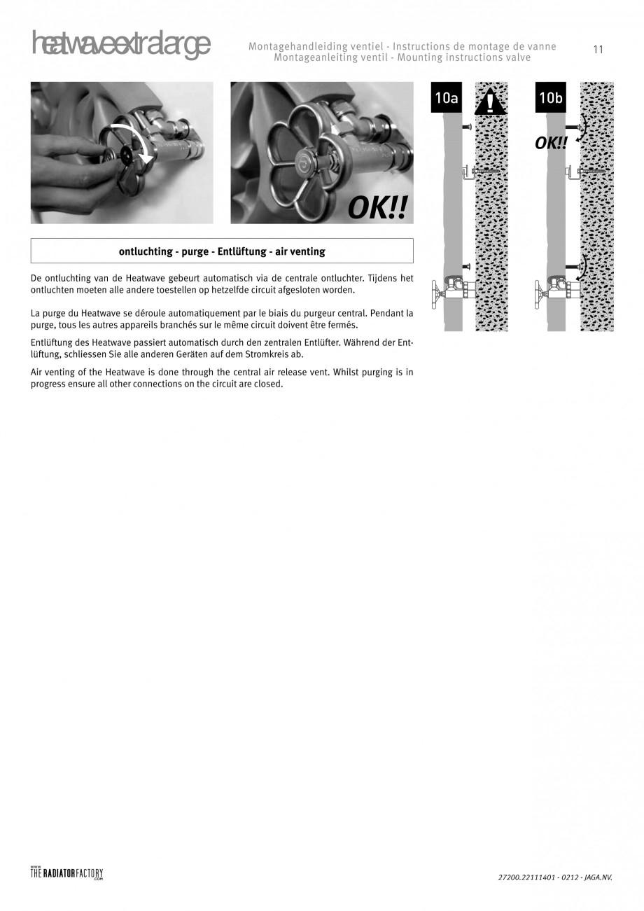 Pagina 11 - Radiatoare modulare - Extralarge JAGA HEATWAVE Instructiuni montaj, utilizare Engleza,...