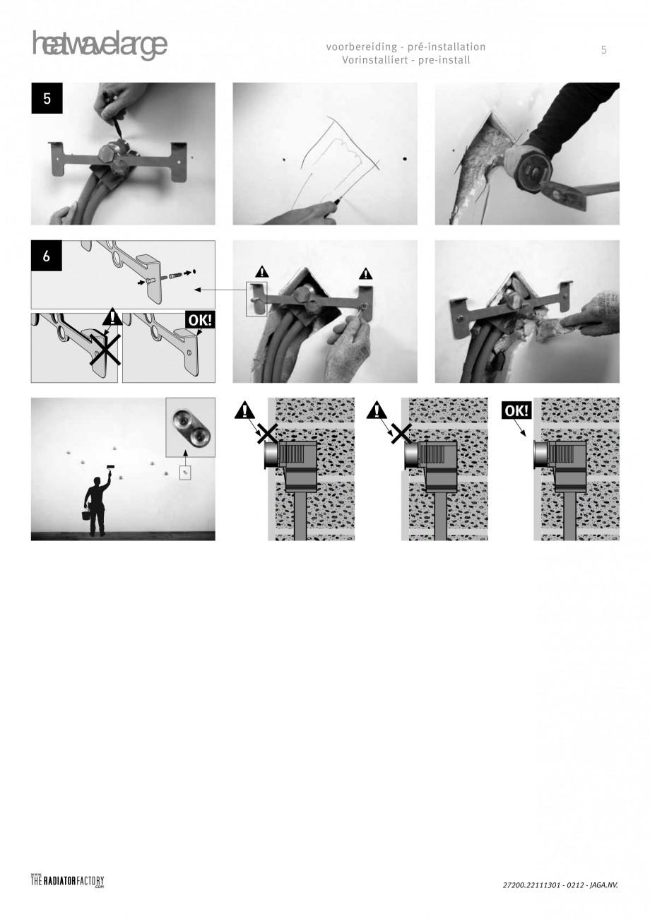 Pagina 4 - Radiatoare modulare - Large JAGA HEATWAVE Instructiuni montaj, utilizare Engleza,...