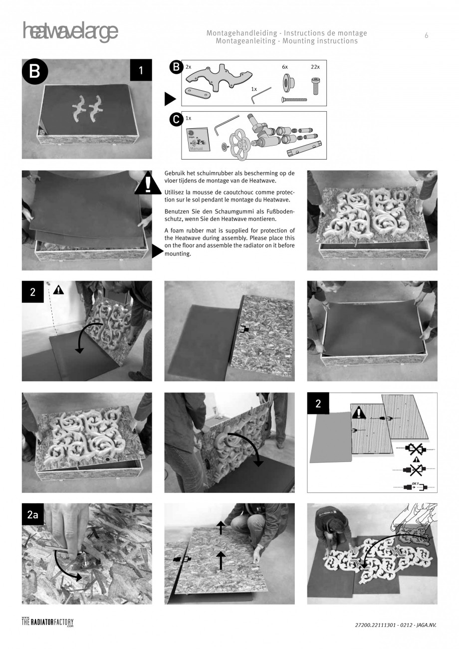 Pagina 5 - Radiatoare modulare - Large JAGA HEATWAVE Instructiuni montaj, utilizare Engleza,...