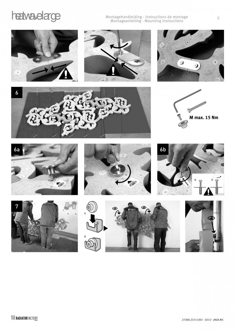 Pagina 7 - Radiatoare modulare - Large JAGA HEATWAVE Instructiuni montaj, utilizare Engleza,...