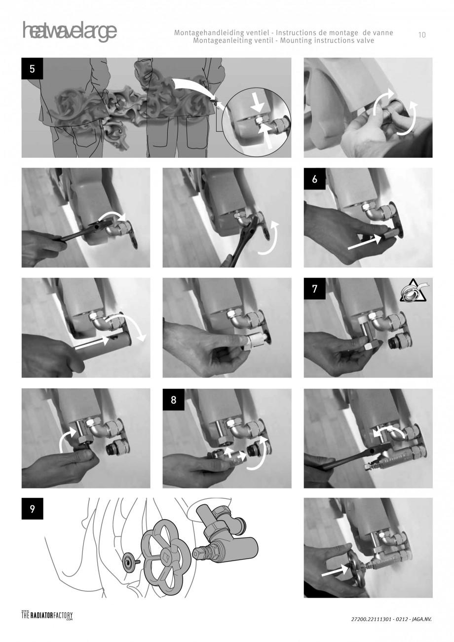 Pagina 9 - Radiatoare modulare - Large JAGA HEATWAVE Instructiuni montaj, utilizare Engleza,...